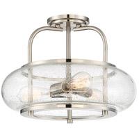Quoizel TRG1716BN Trilogy 3 Light 16 inch Brushed Nickel Semi-Flush Mount Ceiling Light