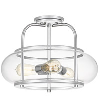 Quoizel TRG1716C Trilogy 3 Light 16 inch Polished Chrome Semi-Flush Mount Ceiling Light