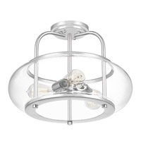 Quoizel TRG1716C Trilogy 3 Light 16 inch Polished Chrome Semi-Flush Mount Ceiling Light alternative photo thumbnail