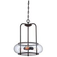 Quoizel TRG1816OZ Trilogy 3 Light 16 inch Old Bronze Pendant Ceiling Light