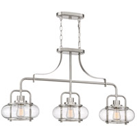 Trilogy 3 Light 38 inch Brushed Nickel Island Chandelier Ceiling Light