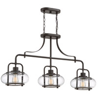 Trilogy 3 Light 38 inch Old Bronze Island Chandelier Ceiling Light