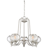Trilogy 5 Light 26 inch Brushed Nickel Chandelier Ceiling Light