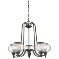 Trilogy 5 Light 26 inch Old Bronze Chandelier Ceiling Light