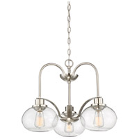 Quoizel Trilogy 3 Light Dinette Chandelier in Brushed Nickel TRG5103BN