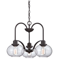 Trilogy 3 Light 22 inch Old Bronze Dinette Chandelier Ceiling Light