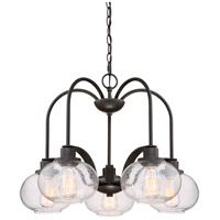 Quoizel Trilogy 5 Light Dinette Chandelier in Old Bronze TRG5105OZ