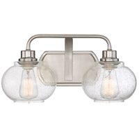 Quoizel Trilogy 2 Light Bath Light in Brushed Nickel TRG8602BN