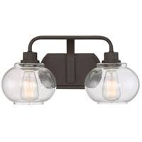 Quoizel Trilogy 2 Light Bath Light in Old Bronze TRG8602OZ