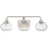 Quoizel Trilogy 3 Light Bath Light in Brushed Nickel TRG8603BN