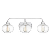 Quoizel TRG8603C Trilogy 3 Light 27 inch Polished Chrome Bath Light Wall Light