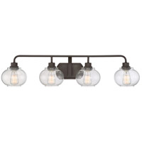 Trilogy 4 Light 36 inch Old Bronze Bath Light Wall Light