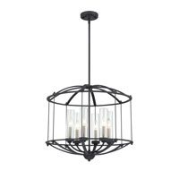 Quoizel Lighting Troy 6 Light Pendant in Royal Ebony TRY2824BA