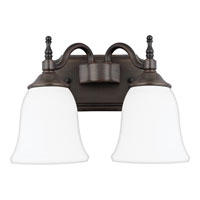 Quoizel Lighting Tritan 2 Light Bath Light in Copper Bronze TT8742CU