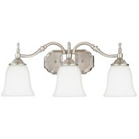 Tritan 3 Light 22 inch Brushed Nickel Bath Light Wall Light