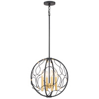 Titan 4 Light 17 inch Mystic Black Pendant Ceiling Light