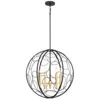 Titan 5 Light 24 inch Mystic Black Foyer Pendant Ceiling Light