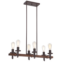 Quoizel Tavern 6 Light Island Chandelier in Darkest Bronze TVN232DK