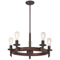 Quoizel Lighting Tavern 5 Light Chandelier in Darkest Bronze TVN5005DK