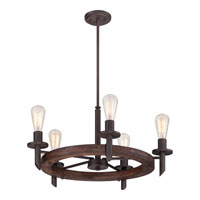 Quoizel TVN5005DK Tavern 5 Light 26 inch Darkest Bronze Chandelier Ceiling Light alternative photo thumbnail