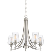 Towne 5 Light 25 inch Brushed Nickel Chandelier Ceiling Light