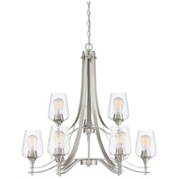 Towne 9 Light 31 inch Brushed Nickel Chandelier Ceiling Light