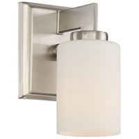 Taylor 1 Light 6 inch Brushed Nickel Bath Light Wall Light