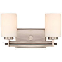 Quoizel Lighting Taylor 2 Light Bath Vanity in Antique Nickel TY8602AN