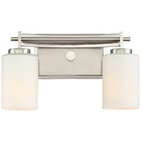Taylor 2 Light 13 inch Brushed Nickel Bath Light Wall Light