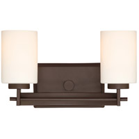Taylor 2 Light 14 inch Western Bronze Bath Light Wall Light