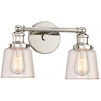 Quoizel UNI8602PK Union 2 Light 15 Inch Polished Nickel Bath Light Wall  Light Alternative Photo Thumbnail
