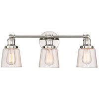 Union 3 Light 23 inch Polished Nickel Bath Light Wall Light