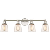Quoizel UNI8604PK Union 4 Light 32 inch Polished Nickel Bath Light Wall Light
