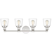Polished Nickel Union Bathroom Vanity Lights