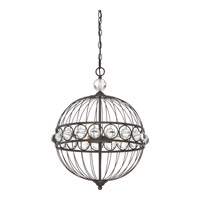 Quoizel Unison 4 Light Foyer Chandelier in Imperial Bronze UNS5204IB