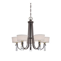Quoizel Lighting Uptown Bowery 5 Light Chandelier in Western Bronze UPBY5005WT