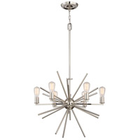 Quoizel Uptown Carnegie 6 Light Foyer Piece in Imperial Silver UPCN5006IS