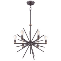 Uptown Carnegie 6 Light 26 inch Western Bronze Chandelier Ceiling Light