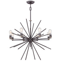 Uptown Carnegie 8 Light 34 inch Western Bronze Chandelier Ceiling Light