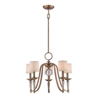 Quoizel Uptown Empire 5 Light Chandelier in Weathered Brass UPEP5005WS