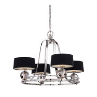 Quoizel Lighting Uptown Gotham 4 Light Chandelier in Imperial Silver UPGO5004IS