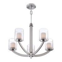 Quoizel Lighting Uptown Liberty 5 Light Chandelier in Brushed Nickel UPLB5005BN alternative photo thumbnail