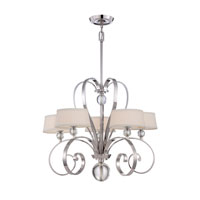Quoizel Lighting Uptown Madison Manor 5 Light Chandelier in Imperial Silver UPMM5005IS