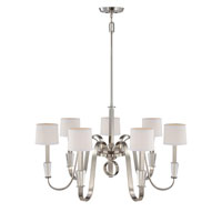 Quoizel Lighting Uptown Park Avenue Penthouse 7 Light Chandelier in Imperial Silver UPPA5007IS alternative photo thumbnail