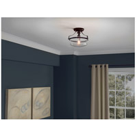 Quoizel UPPS1713WT Uptown Penn Station 1 Light 13 inch Western Bronze Semi-Flush Mount Ceiling Light  alternative photo thumbnail