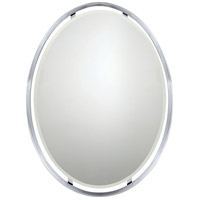 Quoizel UPRZ43426C Uptown Ritz 34 X 26 inch Polished Chrome Wall Mirror