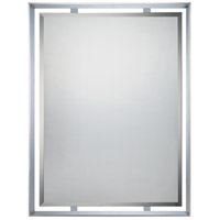 Quoizel UPRZ53426C Uptown Ritz 34 X 26 inch Polished Chrome Wall Mirror
