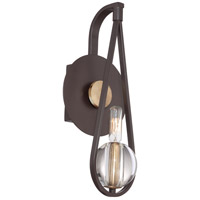 Quoizel Lighting Uptown Seaport 1 Light Wall Sconce in Western Bronze UPSE8701WT
