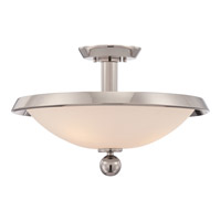 Uptown Tribeca 3 Light 18 inch Imperial Silver Semi-Flush Mount Ceiling Light