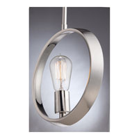 Quoizel Lighting Uptown Theater Row 1 Light Mini Pendant in Imperial Silver UPTR1510IS alternative photo thumbnail